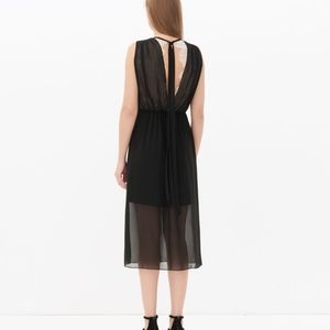 Sandro Rules Chiffon Dress Noir